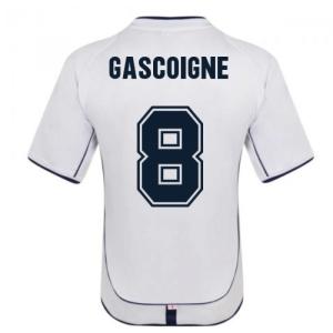 England 2002 Retro Football Shirt (GASCOIGNE 8)