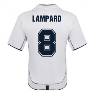 England 2002 Retro Football Shirt (LAMPARD 8)
