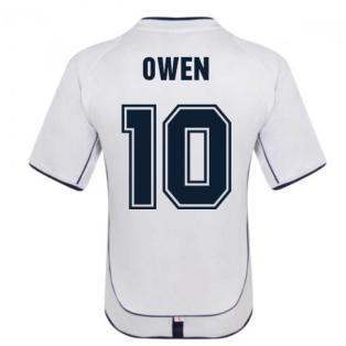 England 2002 Retro Football Shirt (OWEN 10)