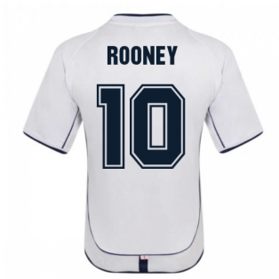 England 2002 Retro Football Shirt (ROONEY 10)