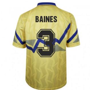 Everton 1990 Away Retro Football Shirt (BAINES 3)