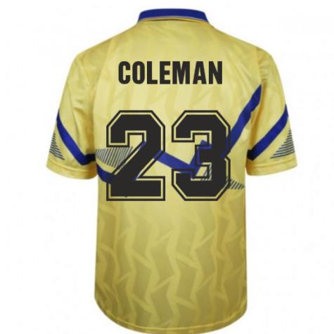 Everton 1990 Away Retro Football Shirt (COLEMAN 23)