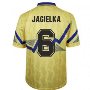 Everton 1990 Away Retro Football Shirt (JAGIELKA 6)