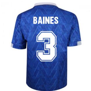 Everton 1990 Home Retro Football Shirt (BAINES 3)