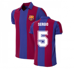 FC Barcelona 1980 - 81 Retro Football Shirt (SERGIO 5)