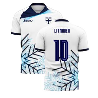Finland 2020-2021 Home Concept Football Kit (Libero) (LITMANEN 10)