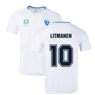 Finland 2021 Polyester T-Shirt (White) (LITMANEN 10)
