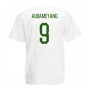 Gabon Core Football Country T-Shirt (White) (Aubameyang 9)