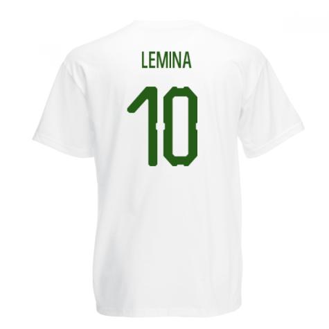 Gabon Core Football Country T-Shirt (White) (Lemina 10)