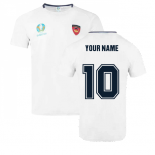 Germany 2021 Polyester T-Shirt (White) (Your Name)
