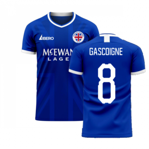 Glasgow 2020-2021 Home Concept Football Kit (Libero) (GASCOIGNE 8)