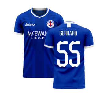 Glasgow 2020-2021 Home Concept Football Kit (Libero) (Gerrard 55)