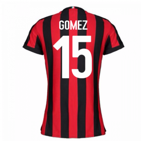 2017-2018 AC Milan Womens Home Shirt (Gomez 15)