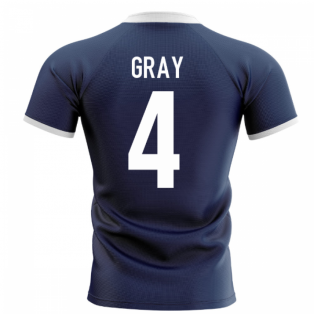 2020-2021 Scotland Flag Concept Rugby Shirt (Gray 4)