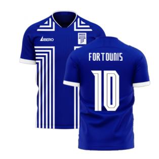 Greece 2020-2021 Away Concept Football Kit (Libero) (FORTOUNIS 10)