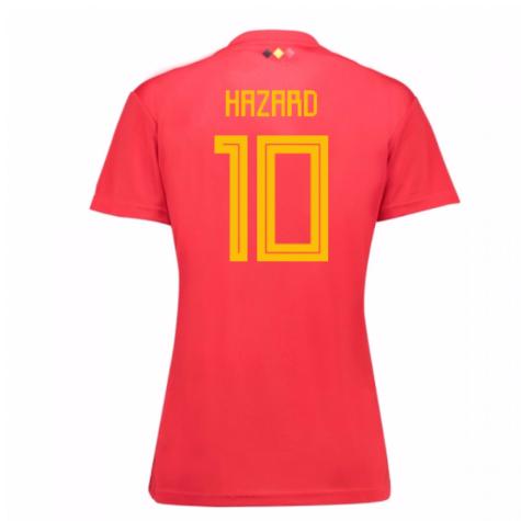 2018-19 Belgium Home Womens Shirt (Hazard 10)