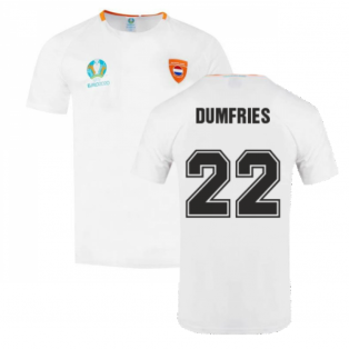 Holland 2021 Polyester T-Shirt (White) (DUMFRIES 22)