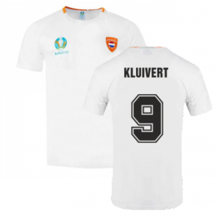 Holland 2021 Polyester T-Shirt (White) (KLUIVERT 9)