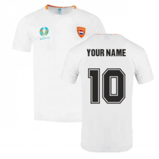 Holland 2021 Polyester T-Shirt (White) (Your Name)