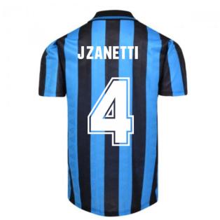 Internazionale 1992 Home Shirt (J.ZANETTI 4)