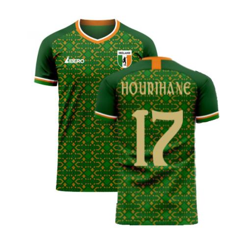 Ireland 2020-2021 Home Concept Football Kit (Libero) (HOURIHANE 17)