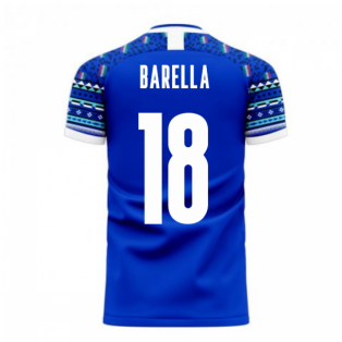 Italy 2020-2021 Home Concept Football Kit (Libero) (BARELLA 18)