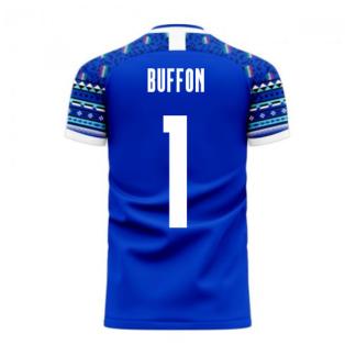 Italy 2020-2021 Home Concept Football Kit (Libero) (BUFFON 1)