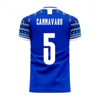 Italy 2020-2021 Home Concept Football Kit (Libero) (CANNAVARO 5)