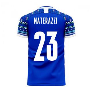 Italy 2020-2021 Home Concept Football Kit (Libero) (MATERAZZI 23)