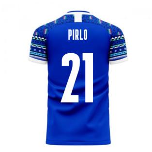 Italy 2020-2021 Home Concept Football Kit (Libero) (PIRLO 21)