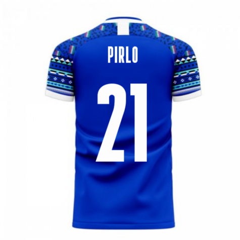 Italy 2020-2021 Home Concept Football Kit (Libero) (PIRLO 21)