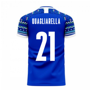Italy 2020-2021 Home Concept Football Kit (Libero) (QUAGLIARELLA 21)