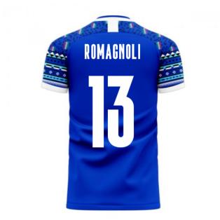 Italy 2020-2021 Home Concept Football Kit (Libero) (ROMAGNOLI 13)