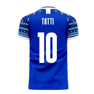Italy 2020-2021 Home Concept Football Kit (Libero) (TOTTI 10)