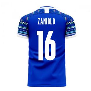 Italy 2020-2021 Home Concept Football Kit (Libero) (ZANIOLO 16)