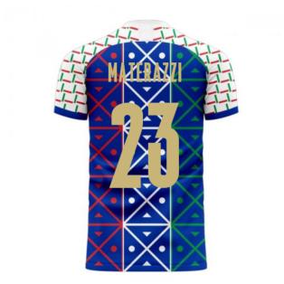 Italy 2020-2021 Renaissance Home Concept Football Kit (Libero) (MATERAZZI 23)