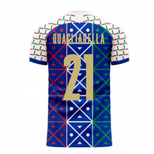 Italy 2020-2021 Renaissance Home Concept Football Kit (Libero) (QUAGLIARELLA 21)