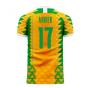 Ivory Coast 2020-2021 Home Concept Football Kit (Libero) (AURIER 17)