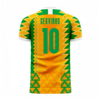 Ivory Coast 2020-2021 Home Concept Football Kit (Libero) (GERVINHO 10)