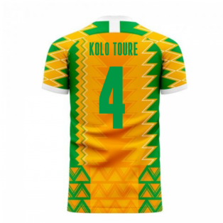 Ivory Coast 2020-2021 Home Concept Football Kit (Libero) (KOLO TOURE 4)