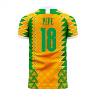 Ivory Coast 2020-2021 Home Concept Football Kit (Libero) (PEPE 18)