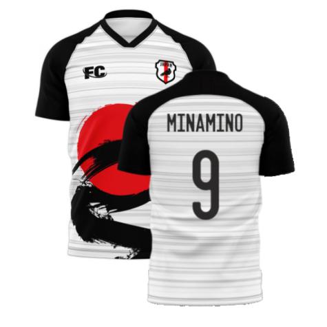 Japan 2021-2022 Away Concept Football Kit (Fans Culture) (MINAMINO 9)
