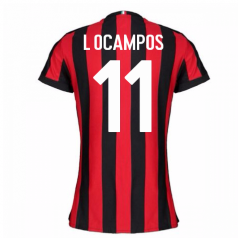 2017-2018 AC Milan Womens Home Shirt (L Ocampos 11)