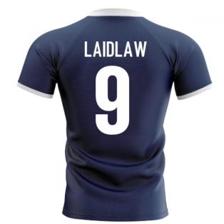 2020-2021 Scotland Flag Concept Rugby Shirt (Laidlaw 9)