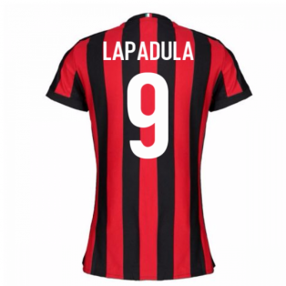 2017-2018 AC Milan Womens Home Shirt (Lapadula 9)