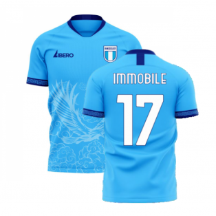 Lazio 2020-2021 Home Concept Football Kit (Libero) (Immobile 17)