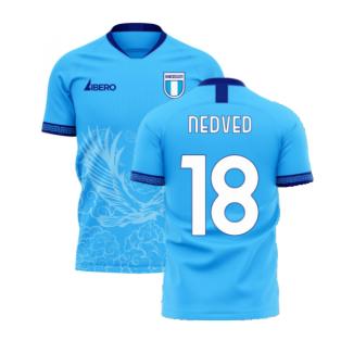 Lazio 2020-2021 Home Concept Football Kit (Libero) (NEDVED 18)