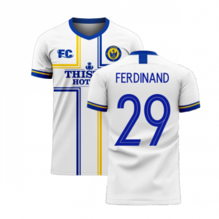Leeds 2020-2021 Home Concept Football Kit (Fans Culture) (FERDINAND 29)