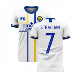 Leeds 2020-2021 Home Concept Football Kit (Fans Culture) (STRACHAN 7)