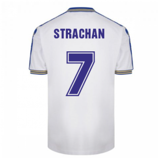 Leeds United 1978 Admiral Retro Football Shirt (STRACHAN 7)